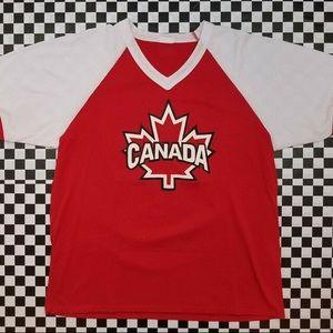 Vintage Canada Baseball V Neck Ringer Tee